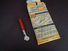 Vintage Dressmaker's Tracing Paper & Tracing Tool (Cat.#2A069)
