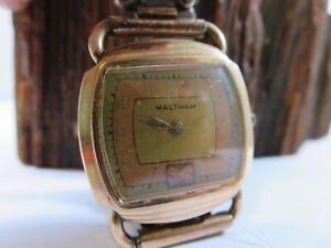 1900 Waltham Riverside 15J Rose Gold Case Mens Winding Watch Repair WB1