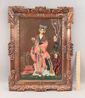 RARE Antique ALBERT GILLES French Enamel On Copper Painting, Japanese Woman