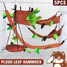 5Pcs Small Cute Pet Cage Sugar Glider Hamster Squirrel Swing Bed Nest Hammock