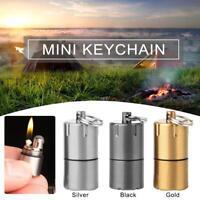 MINI Outdoor Camping Survival Emergency Fire Starter Lighter Key Chain Pocket