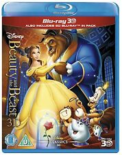 Beauty and the Beast (Animated) 3D + 2D Blu-Ray Disney BRAND NEW FREE SHIPPING