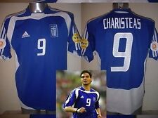 Greece Greek Adidas CHARISTEAS Shirt Jersey Football Soccer Adult Small Euro