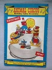 VINTAGE 1950s Animal Circus CHILDS PARTY BIRTHDAY CAKE DECORATION - SEALED