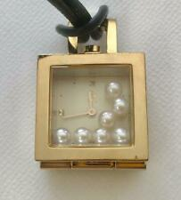 MIKIMOTO International Quartz Necklace Watch Gold with 7 Pearls
