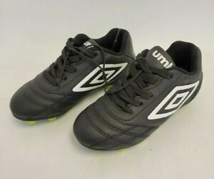 AUTHENTIC UMBRO SOCCER CLEATS YOUTH SIZE 11 BLACK / WHITE / GREEN BRAND NEW