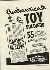 1948 PAPER AD Authenticast Brand Toy Soldiers Hand Painted Comet Metal