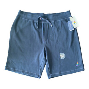 Nautica Mens Sleepwear Knit Sleep Short Navy Blue Large L NWT Pockets Rainbow