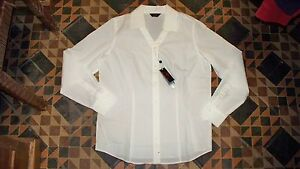 AWESOME! Women's White Golf Shirt CALLAWAY COLLECTION M w/Stretch M $65 NWT!