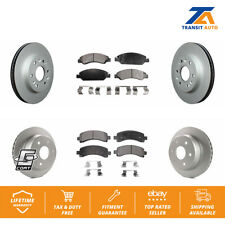 Front Rear Coated Disc Rotors & Ceramic Brake Pad Fit Chevrolet Express 1500 Gmc