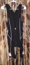 Men's HINCAPIE / AEOLUS / Cable Huston Thermal Bib Shorts ~ Black SMALL ~ EUC