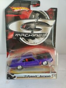 Hot Wheels c3 Machines 1971 Plymouth Barracuda serie 1 2 of 11. 1/50 scale