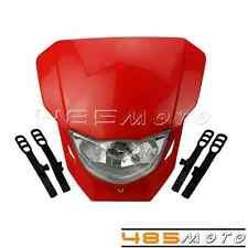 Motorcycle Headlight Dirt Bik Red Head Light Lamp For Honda XR 250 R XR 400 Hot