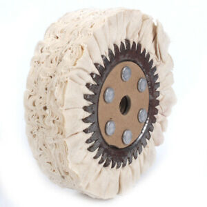 6 Inch Cotton Airway Buffing Wheel Metal Polishing Wheel For Bench Grinder 66Ply