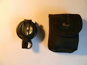 Prismatic marching compass Mils Mk I Francis Barker and Son and Lowepro pouch