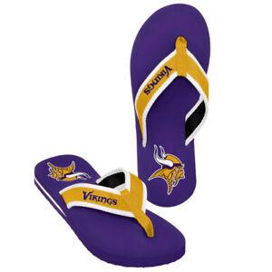 Minnesota Vikings NFL Men's Contour Flip Flops ~ NWT