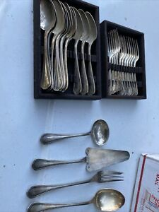 27Pcs. of CHRISTOFLE  SILVER PLATED Flatware