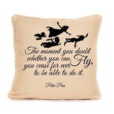 Peter pan jeter oreiller coussin inspiré croire inspiré fly citation cadeau nouveau