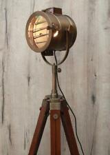 Vintage Antique Brown Shutter Series Adjustable Tripod Floor Lamp Emporia Decors