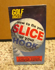 GOLF DIGEST Chuck Cook VHS golf How to Fix Your Slice or Your Hook 1997 new