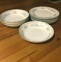 Christine Fine Porcelain China - Set of 4 Dessert/Bread Plates & 4 Fruit Bowls