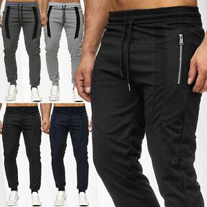 Herren Jogginghose Training Sport Fitness Jogg Hose Dehnbund Sweat Pant Meliert