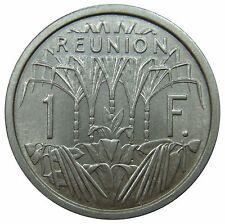 (f19) - reunion - 1 francos 1964-vainilla caña de azúcar sugarcane Vanilla UNC km # 6