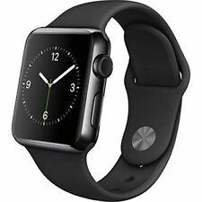Reloj de Apple serie 2 42mm Estuche Negro espacial-Banda Negra Sport