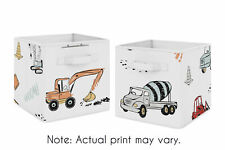 Construction Truck Foldable Fabric Organizer Storage Cube Bins by Sweet Jojo