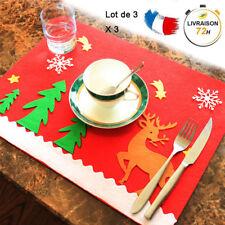 3set/6pcsTapis de table de decoration de Noël