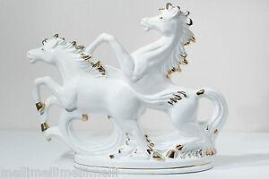 CAPODIMONTE-Italy-Antique Porcelain Figurine/Scuplture-Horses-36cm high! RARE!