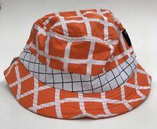 Trukfit Bucket Hat Orange White Plaid Sample Nice New Rare One Of One