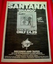 Santana Shango Vintage ORIGINAL 1982 Press/Magazine ADVERT Poster-Size