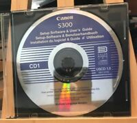 Canon S300 Setup Software & User's Guide USCD 1.0 Software Disc PC CD-Rom, 2001