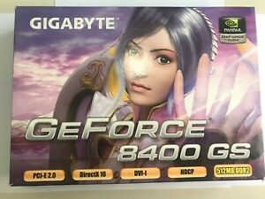 NEW Nvidia GeForce 8400 GS 512MB DDR2, PCI Graphics Card