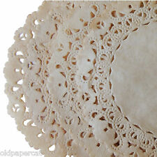 "20 - Tea Stained Hand Dyed VINTAGE Style 6"" Normandy PAPER LACE DOILIES"