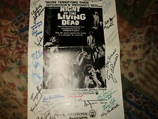 NIGHT OF THE LIVING DEAD CAMPAIGN BOOK SIGNED BY 23 STARS AND CREW IN PERSON