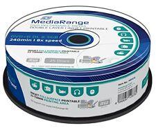 Dvd R doble capa 8x Mediarange FF Printable tarrina 25 UDS