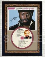 Teddy Pendergrass Greatest Hits SIGNED FRAMED PHOTO PRE-PRINT CD Perfect gift