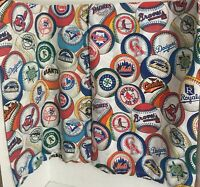2 Vintage Hand Made ML Baseball Standard Size Pillow Cases W/ Chief Wahoo G81