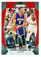 2017-18 Panini Prizm RUBY RED WAVE REFRACTOR PRIZM #288 LARRY NANCE Lakers