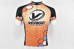 Verge Men's Race S/S Cycling Jersey, Orange/White, Size 3XL, Brand New