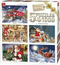 King Puzzle Christmas Collection 5 x 1000 pieces - NEW!