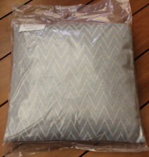 L'Avenue Herringbone Blue 43cm x 43cm Filled Decorative Cushion Filled New