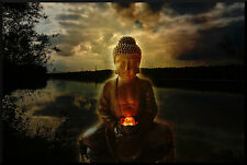 Framed Print - Buddha Sitting on the Banks of the Yellow River (Picture Poster)