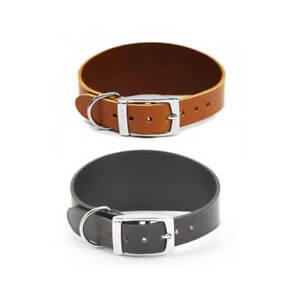Ancol Whippet Greyhound Lurcher Dog Puppy Leather Collar Black Tan