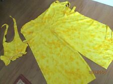 Indian Tropical Fashion  1 size fits most wrap beach PANT 2 PC  SET YELLOW