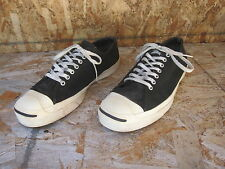 Rare Vtg Mens Converse Jack Purcell Suede Shoes Sz 12 Made in USA Black