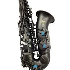 Eastern Music Professional matt black Alto Saxophone with dragon engravings