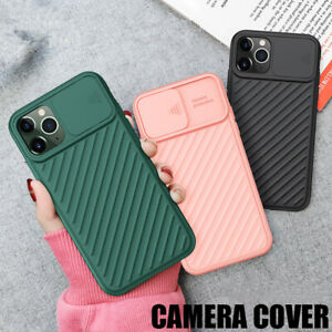 Case For iPhone 6s 7 8 XS 11 12 Pro Max With Camera Lens Slide Protection Cover